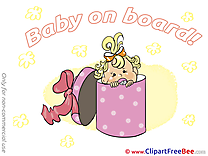 Present download Clipart Baby on board Cliparts