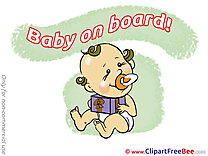 Present Pics Baby on board Illustration