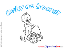Quad Baby on board free Images download