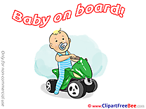 Quad Clip Art download Baby on board