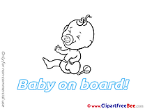 Rattle free Cliparts Baby on board