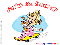 Skate Cat Clipart Baby on board free Images