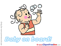 Soap Bubbles free Cliparts Baby on board