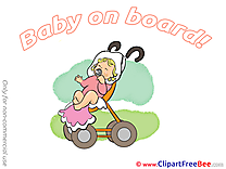 Stroller Pics Baby on board Illustration