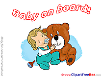 Teddy Bear free Cliparts Baby on board