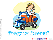 Truck Clip Art download Baby on board