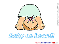 Upside Down printable Baby on board Images