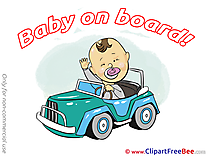 Vehicle Baby on board download Illustration