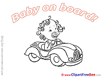 Vehicle Pics Baby on board free Cliparts