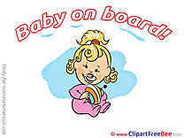 Whirligig free Illustration Baby on board
