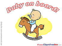 Wooden Horse printable Baby on board Images