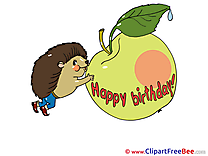 Apple Clip Art download Birthday