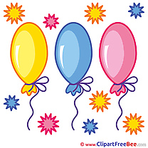 Balloons free Cliparts Birthday