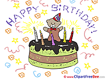 Bear Cake Clipart Birthday free Images