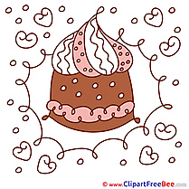 Cake printable Illustrations Birthday