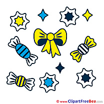 Candies Clipart Birthday Illustrations