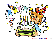 Clown Cake Birthday Clip Art for free