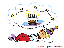Dreaming about Cake Pics Birthday free Cliparts