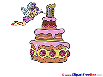 Fairy Cake Clip Art download Birthday