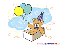 Teddy Bear Balloons Birthday free Images download