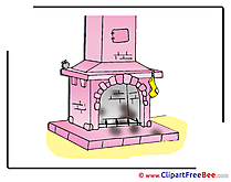 Fireplace Clipart free Illustrations
