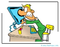 Funny Office Manager Clipart Image - Business Clipart Images for free