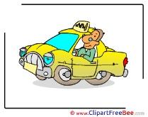 Driver Taxi Pics printable Cliparts