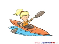 Rafting Girl printable Images for download
