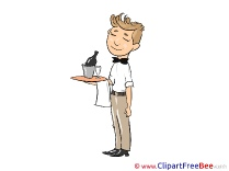 Waiter Tray download Clip Art for free