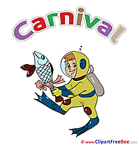 Diver Fish Carnival free Images download