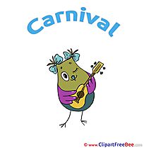 Guitar Owl Clipart Carnival Illustrations