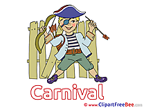 Pirate printable Illustrations Carnival