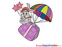 Rabbit Present Carnival Illustrations for free