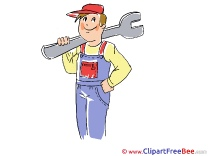 Boy with Wrench free Cliparts for download