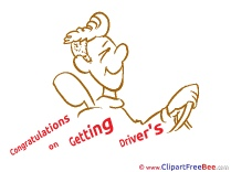 Congratulations Getting Driver's License download Clip Art for free