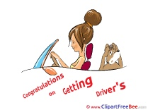 Congratulations Getting Driver's License Pics printable Cliparts