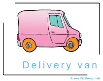 Delivery Van - Clip Art Image free - Cars Clip Art Images free