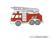 Fire Truck Pics printable Cliparts
