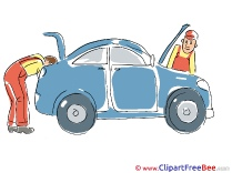 Men Mechanics Car Repairs Clipart free Illustrations