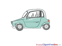 Two-door Car download printable Illustrations