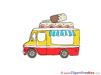 Vehicle Ice Cream Truck Clipart free Illustrations