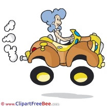 Woman Car Driver Pics printable Cliparts