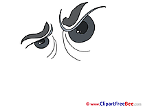 Cruel Look Clipart free Image download