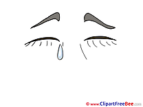 Cry Pics printable Cliparts