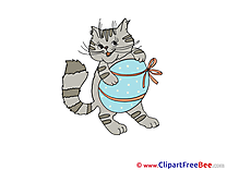 Easter Egg Cat Pics free Illustration