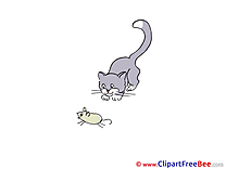 Mouse Cat download printable Illustrations