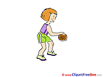 Basketball Girl Pics printable Cliparts