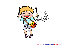Drum Musician Pics printable Cliparts