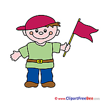 Flag Boy Clipart free Illustrations