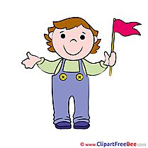 Flag Boy Pics free Illustration